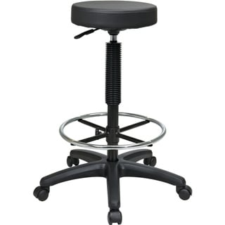 Office Star Products 'Work Smart' Backless Drafting Stool with Nylon Base and Adjustable Foot Ring