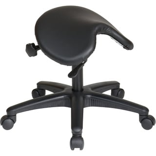 Office Star Products 'Work Smart' Backless Drafting Saddle-Seat Stool in Black