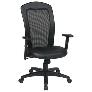 Office Star Products Work Smart Leather Seat Chair