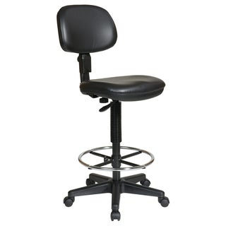 Office Star Products Work Smart Sculptured Vinyl Armless Drafting Chair