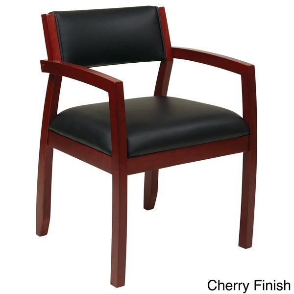 guest chair cherry finish office star products napa guest chair