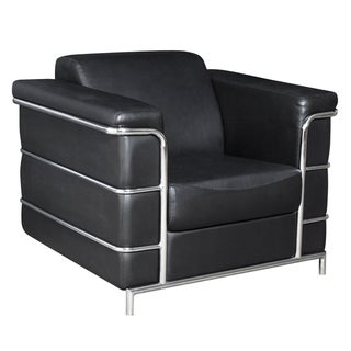 Regency Seating Black Leather Lounge Chair