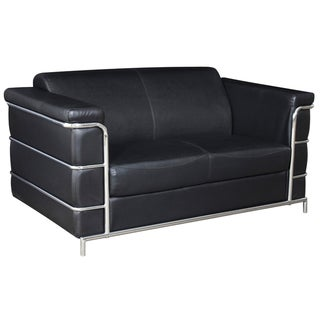 Regency Seating Black Leather Loveseat