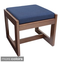 Regency Seating Single-Seat Cherry-Finish Wood/Fabric Bench