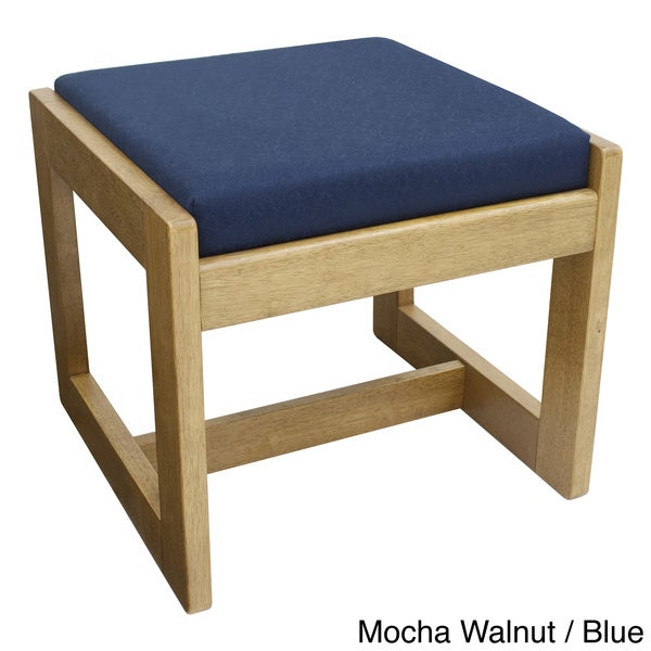 Regency Seating Single Seat Wood/ Fabric Bench