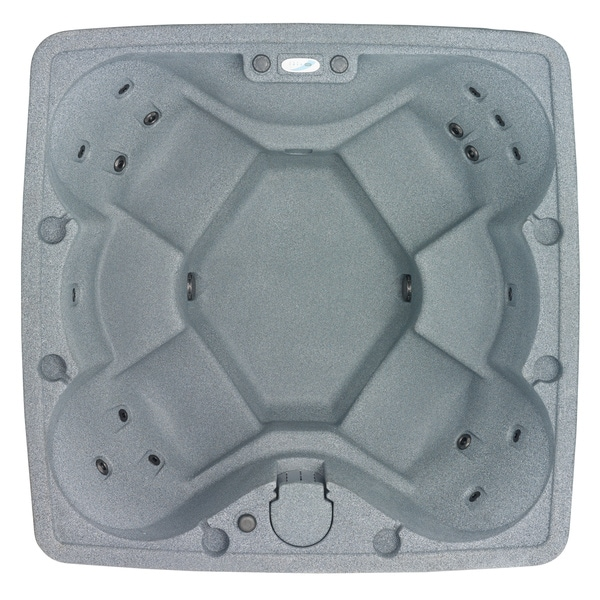 AquaRest AR-600 Silver 6-Person Jet Spa with 18 Jets and Free Cover