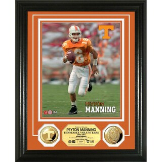 Highland Mint Peyton Manning University of Tennessee Gold Coin Photo Mint