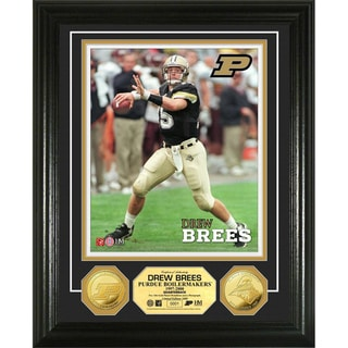 Highland Mint Drew Brees Purdue University Gold Coin Photo Mint