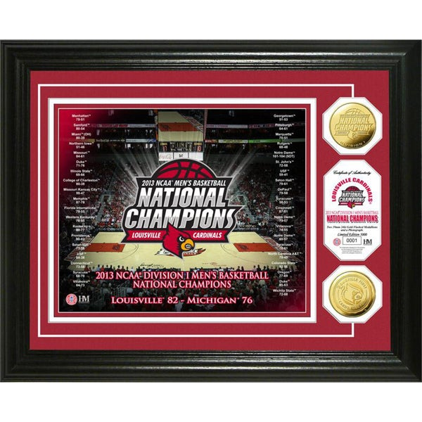 Highland Mint University of Louisville 2013 NCAA Basketball National Champions Gold Coin Photo Mint