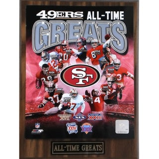 San Francisco 49ers 'All Time Greats' Plaque