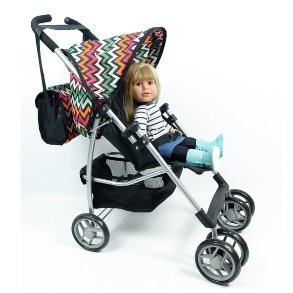 New York Doll Collection Swivel-wheel Doll Stroller with FREE Carriage Bag (As Is Item)