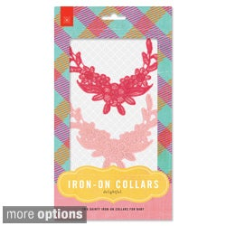 BasicGrey Iron-on Lace Collars (Pack of 2)