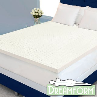 Dream Form Plus Ventilated 2-inch 4-pound High Density Memory Foam Mattress Topper