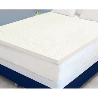 Dream Form Plus Ventilated 3-inch 4-pound High Density Queen/ King -size Memory Foam Mattress Topper
