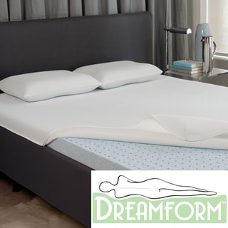 Dream Form Fresh Gel Memory Foam  2-inch Mattress Topper with Cover