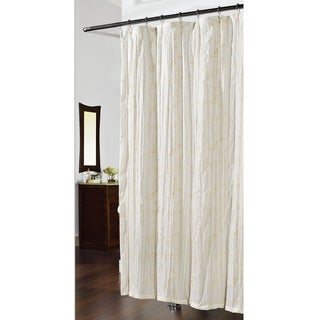 Embroidered Crewelwork Swirl Ivy Shower Curtain