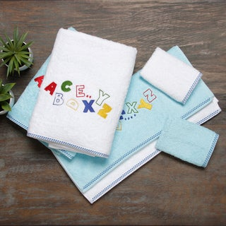 Lucia Minelli 6-piece Alphabet Embroidered Luxury Turkish Towel Set
