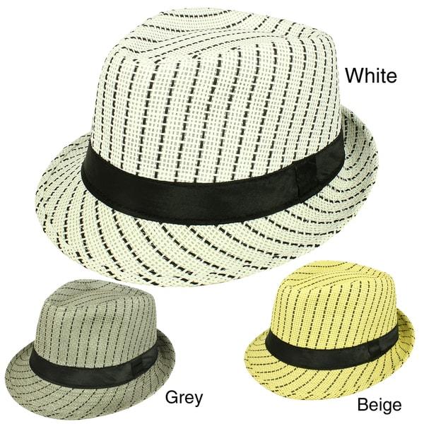 Faddism Men's Woven Fedora Hat