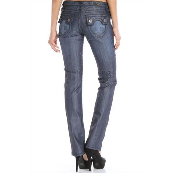 Laguna Beach Jeans Women's 'Hermosa Beach' Indigo Raw and Tattoo Pocket Straight Leg Denim Jeans