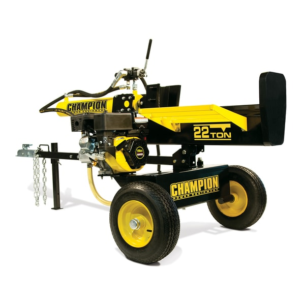 Champion Power Equipment 92221 Unassembled Horizontal/ Vertical 22-ton Hydraulic Log Splitter with Log Catcher