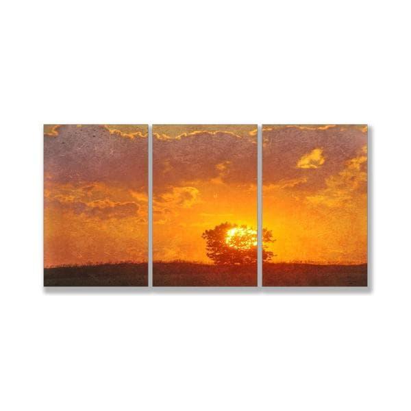 Jean Plout 'Farewell My Friend' Triptych Art