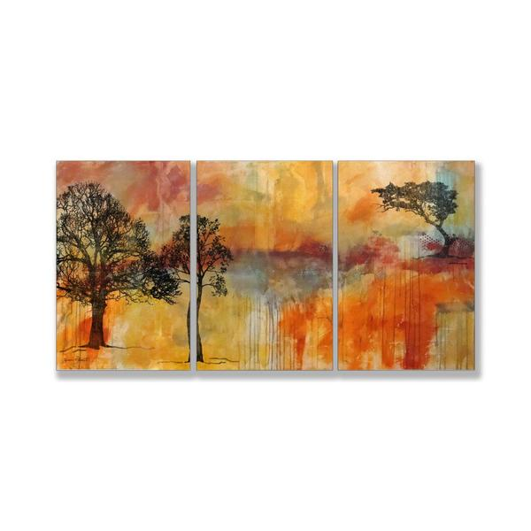Jean Plout 'On The Edge' Triptych Art