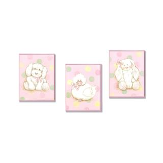 Duck, Puppy & Bunny Wall Art Plaques (Set of 3)
