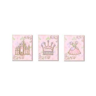 Castle, Crown & Dress Wall Art Plaques (Set of 3)