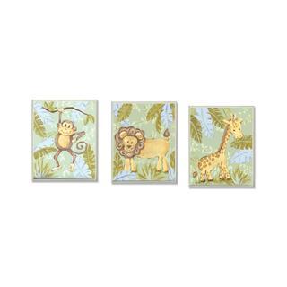 Giraffe, Monkey & Lion Wall Art Plaques (Set of 3)