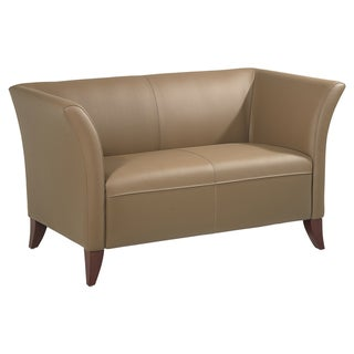 Office Star Products Taupe Leather Loveseat