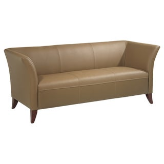 Office Star Products Taupe Leather Sofa