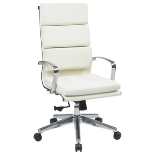 Office Star Products High Back Eco Leather Chair with Built-In Lumbar Support