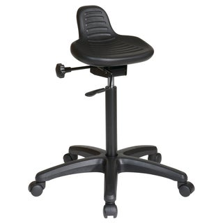 Office Star Products 'Work Smart' Backless Urethane Stool with Seat Angle Adjustment Nylon Base