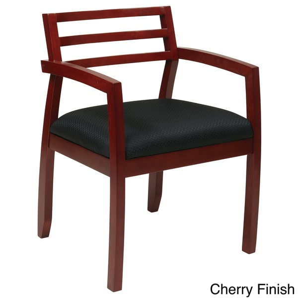 Office Star Products Napa Guest Chair With Wood Ladder