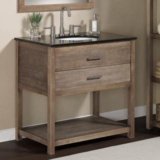 Elements 36-inch Granite Top Single Sink Bathroom Vanity
