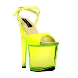 Women's Highest Heel Fantasy-101 Neon Yellow Patent