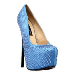 Women's Highest Heel Bombshell-31 Royal Blue Satin