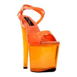 Women's Highest Heel Fantasy-101 Neon Orange Patent