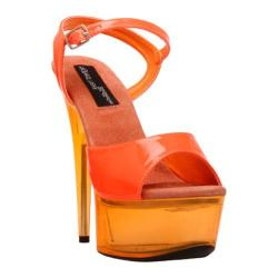 Women's Highest Heel Glow-101 Neon Orange Patent