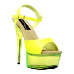 Women's Highest Heel Glow-101 Neon Yellow Patent