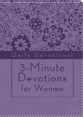 3-Minute Devotions for Women: Daily Devotional, Purple (Paperback)