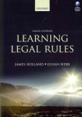Learning Legal Rules: A Students' Guide to Legal Method and Reasoning (Paperback)