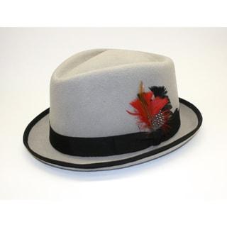 Ferrecci Men's Detroit Black Fedora Hat