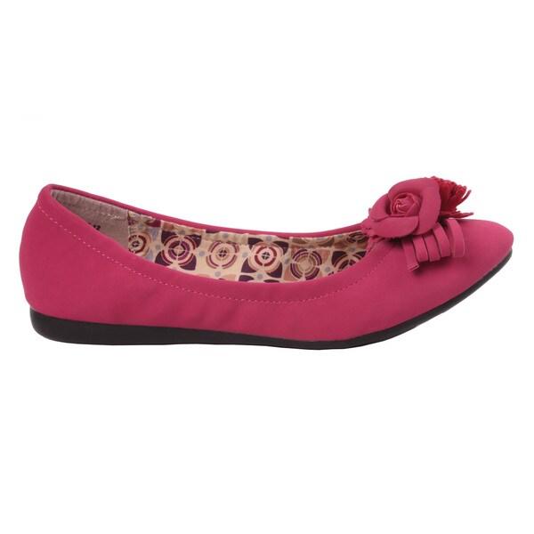 Pinky by Beston Women's 'BEE-12' Slip-on Ballet Flats