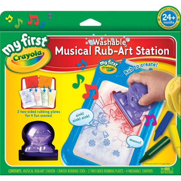 Crayola My First Crayola Musical Rub-Art Station