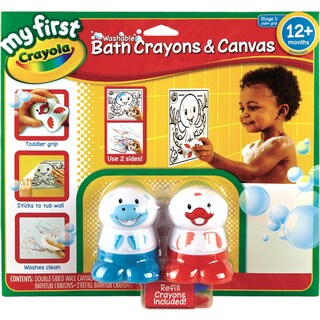 Crayola My First Crayola Washable Bath Crayons & Canvas Set