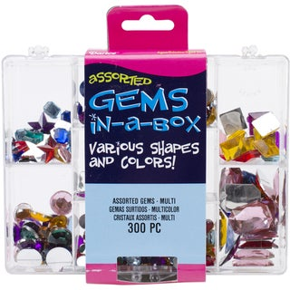 Gems In A Box 300/Pkg-Multicolor