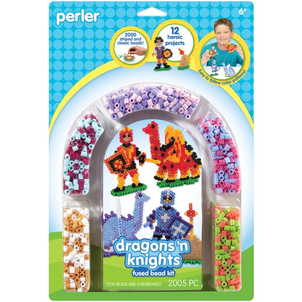 Perler Fun Fusion Fuse Bead Activity Kit-Dragons 'N Knights