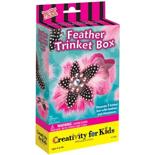 Creativity For Kids Activity Kits-Feather Trinket Box (makes 1)