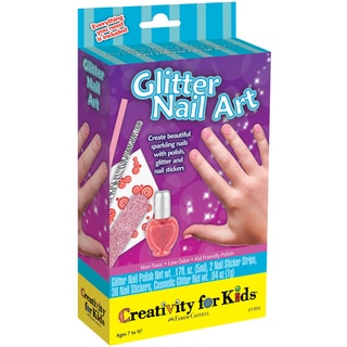 Creativity For Kids Activity Kits-Glitter Nail Art